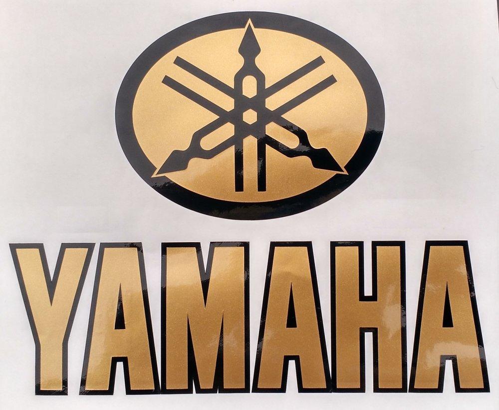 Alter Yamaha Aufkleber Gold Schwarz