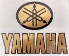 Alter Yamaha Aufkleber gold/schwarz