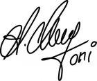 Aufkleber Toni Mang Signatur