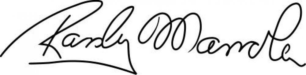 Aufkleber Randy Memola Signatur
