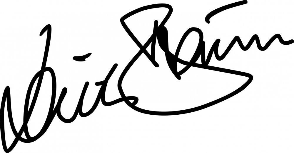 Aufkleber Dieter Braun Signatur